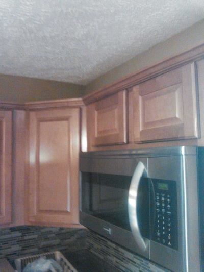 Kitchen Cabinet and Microwave