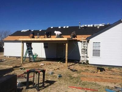 Outdoor Roofing in Progress