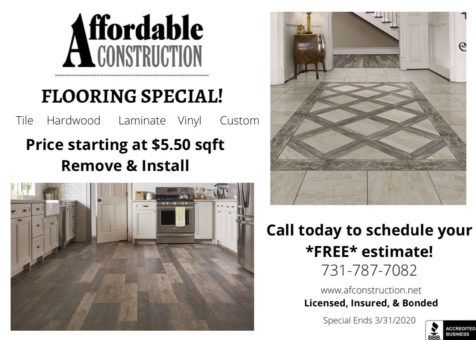 Flooring Online Special Advertisement