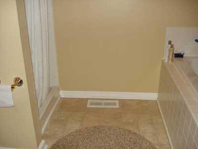 Bathroom Tile Flooring with Rug