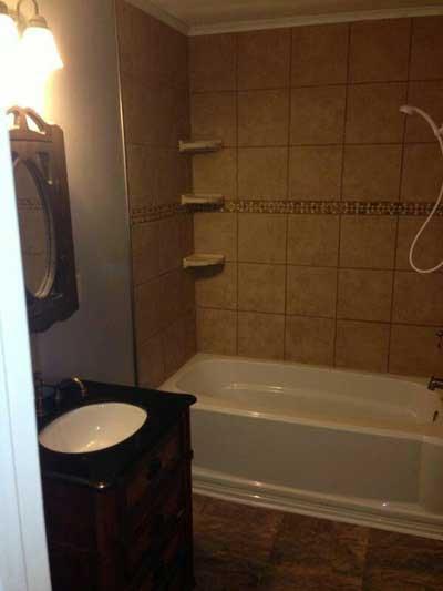 Bathroom Tub and Cupboard