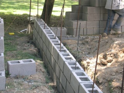 Cinder Block Construction in progress