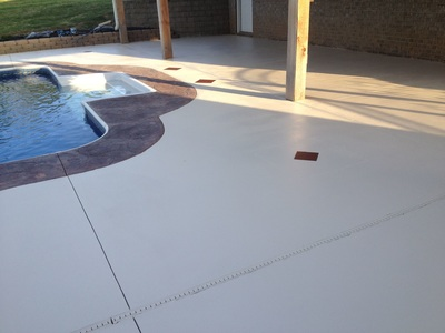 Concrete Flooring Pool Home