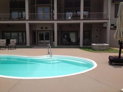 Concrete Pool Flooring Apartment