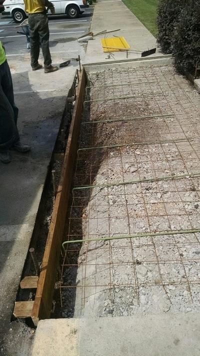 Concrete in progress