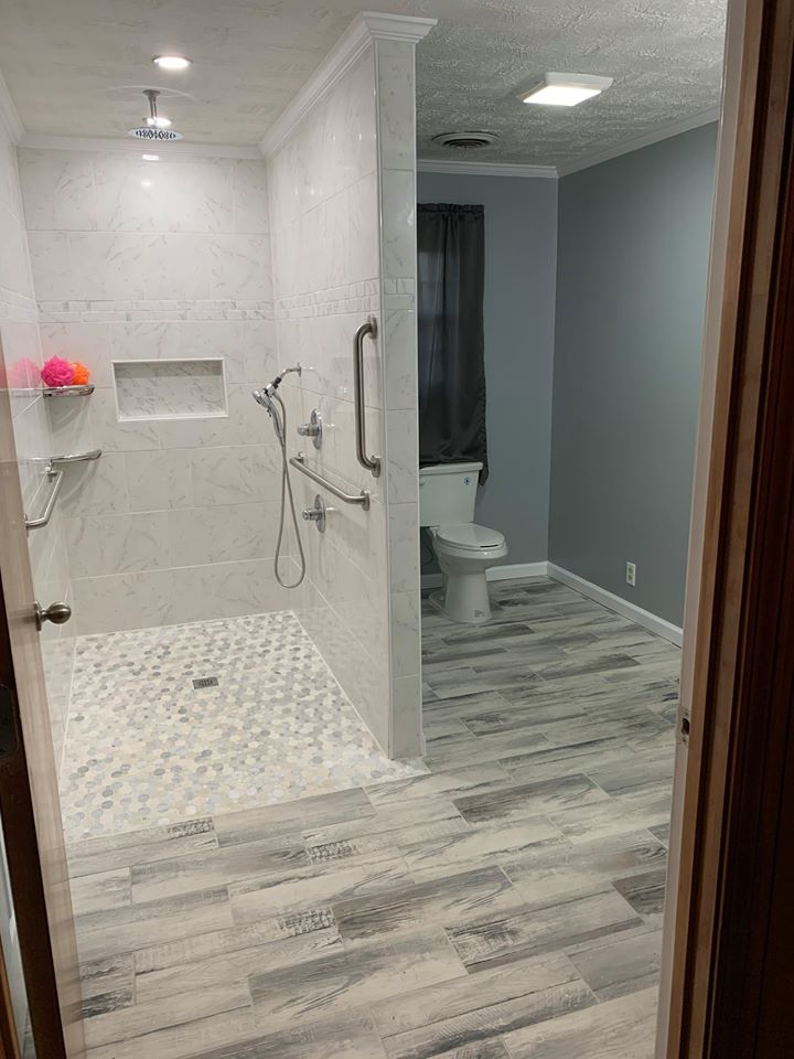Shower and Toilet bathroom remodel
