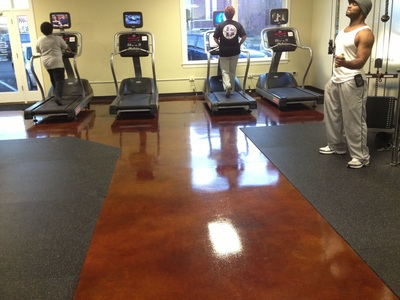 Tile Flooring of Gym